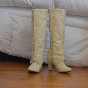 Not Rated Cream boots